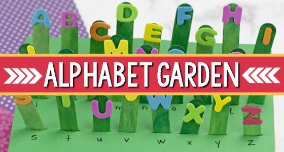 Letter Recognition Activity for Preschool: Alphabet Garden