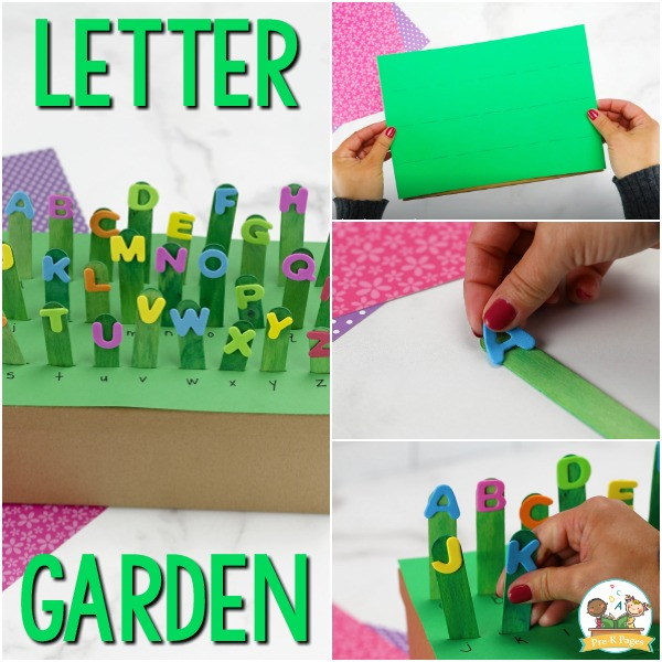 Alphabet Garden Letter Identification Activity for Preschool