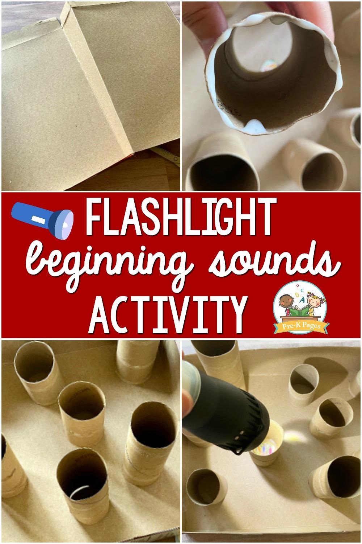 Flashlight activity Beginning Sounds for preschool