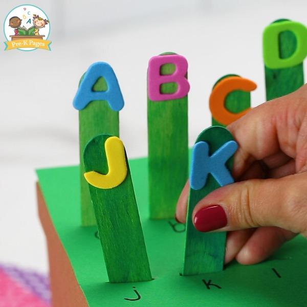 Letter Garden shoe box activity