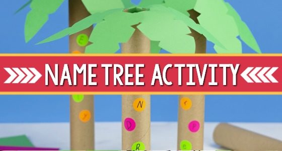 Name Recognition Activity for Preschool: Letter Tree
