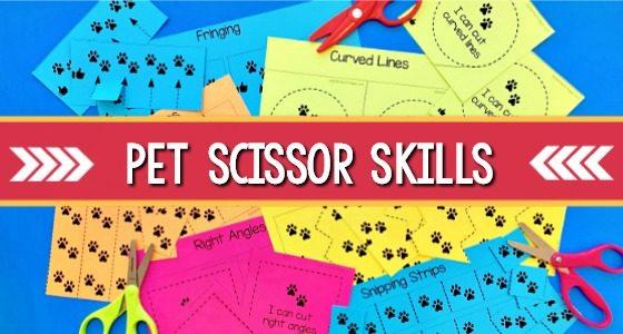 Pets Theme Fine Motor: Scissor Skills