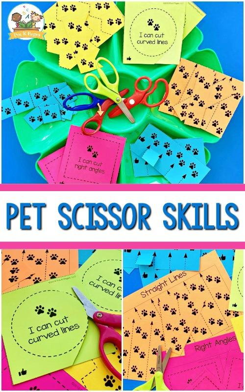 Pets Theme Scissor Skills