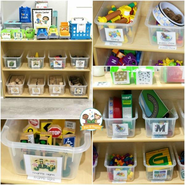 pre-k centers classroom setup
