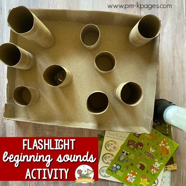 flashlight literacy activity for pre-k