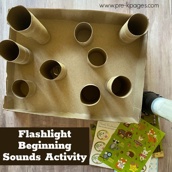flashlight literacy activity for preschool