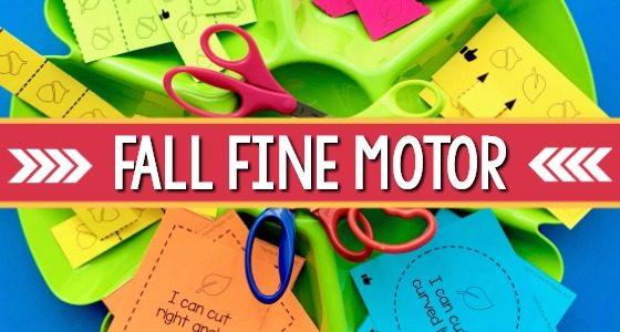Fall Fine Motor Skills: Scissor Cutting Practice