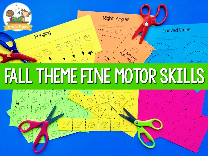 Fall Theme Fine Motor Skills