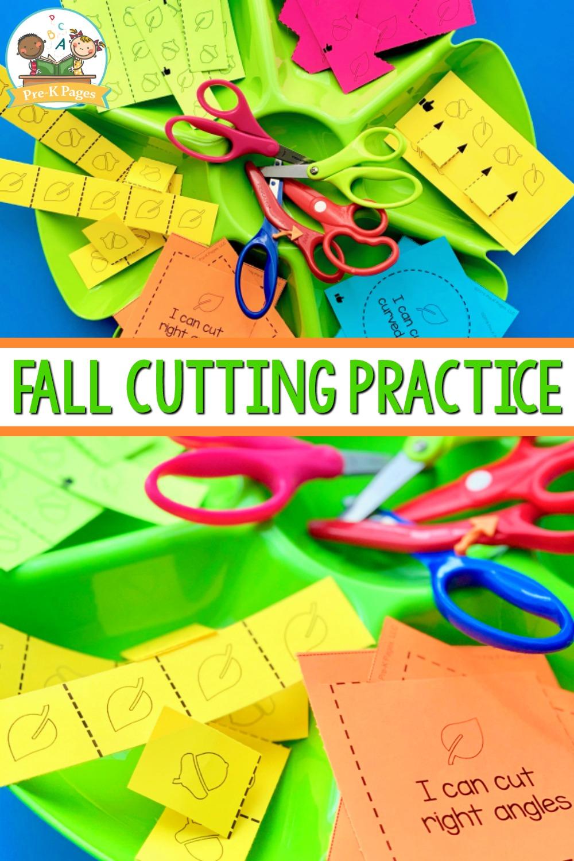 Scissor Skills Cutting Practice for Fall
