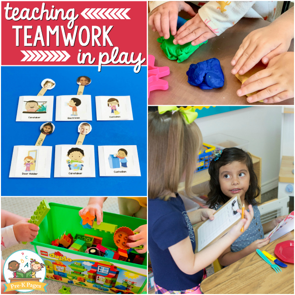 teaching teamwork Pre-K play