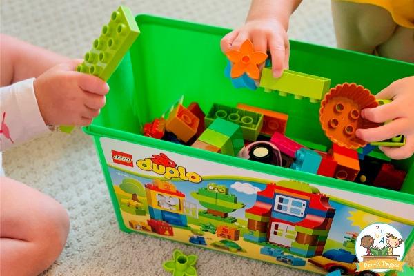 cooperative play blocks preschool