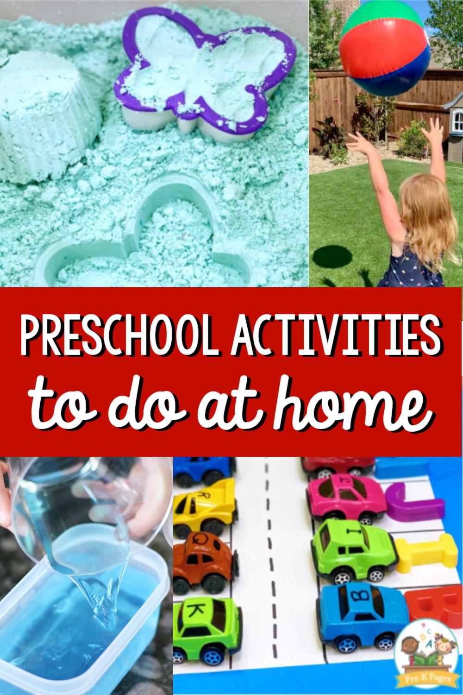 Activities to do at home preschool