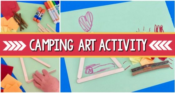 Camping Scene Process Art Activity for Preschoolers