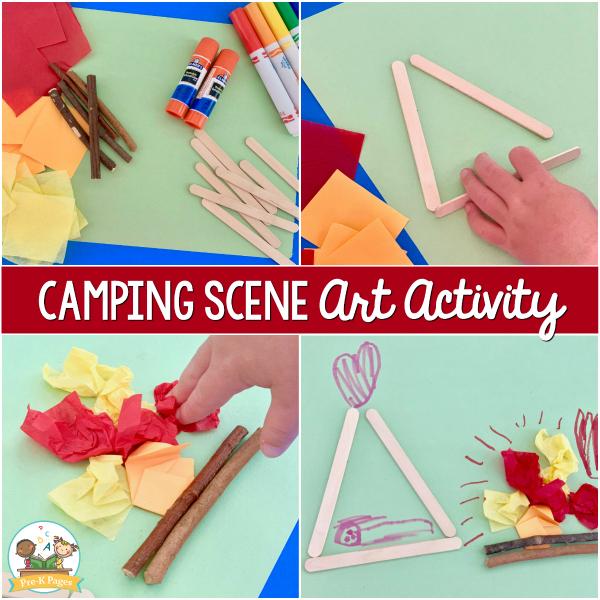 Camping Scene Art Activity pre-k