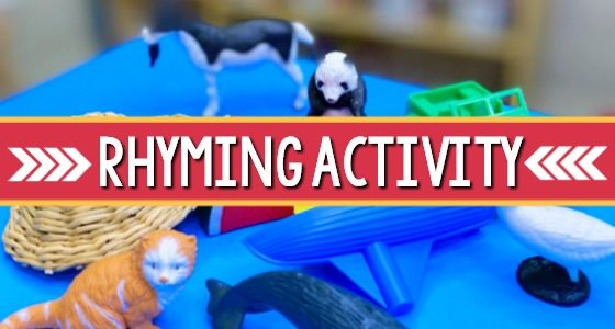 Rhyming Activity for Preschoolers and Kindergartners