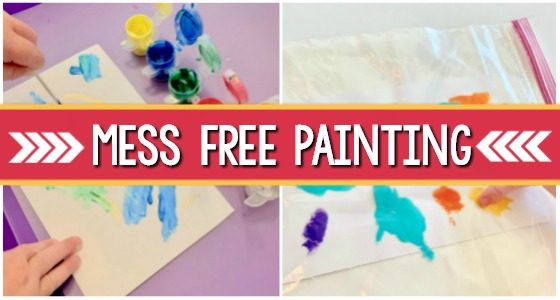 mess free painting preschool