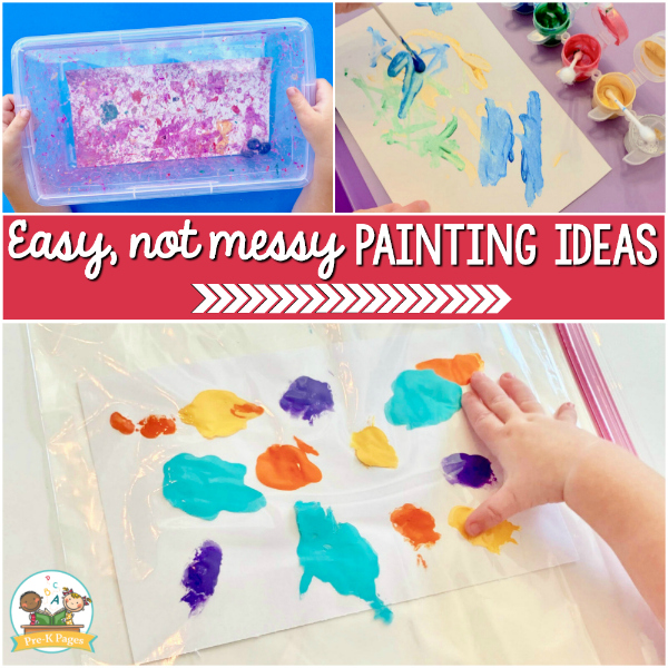 pre-k painting easy not messy