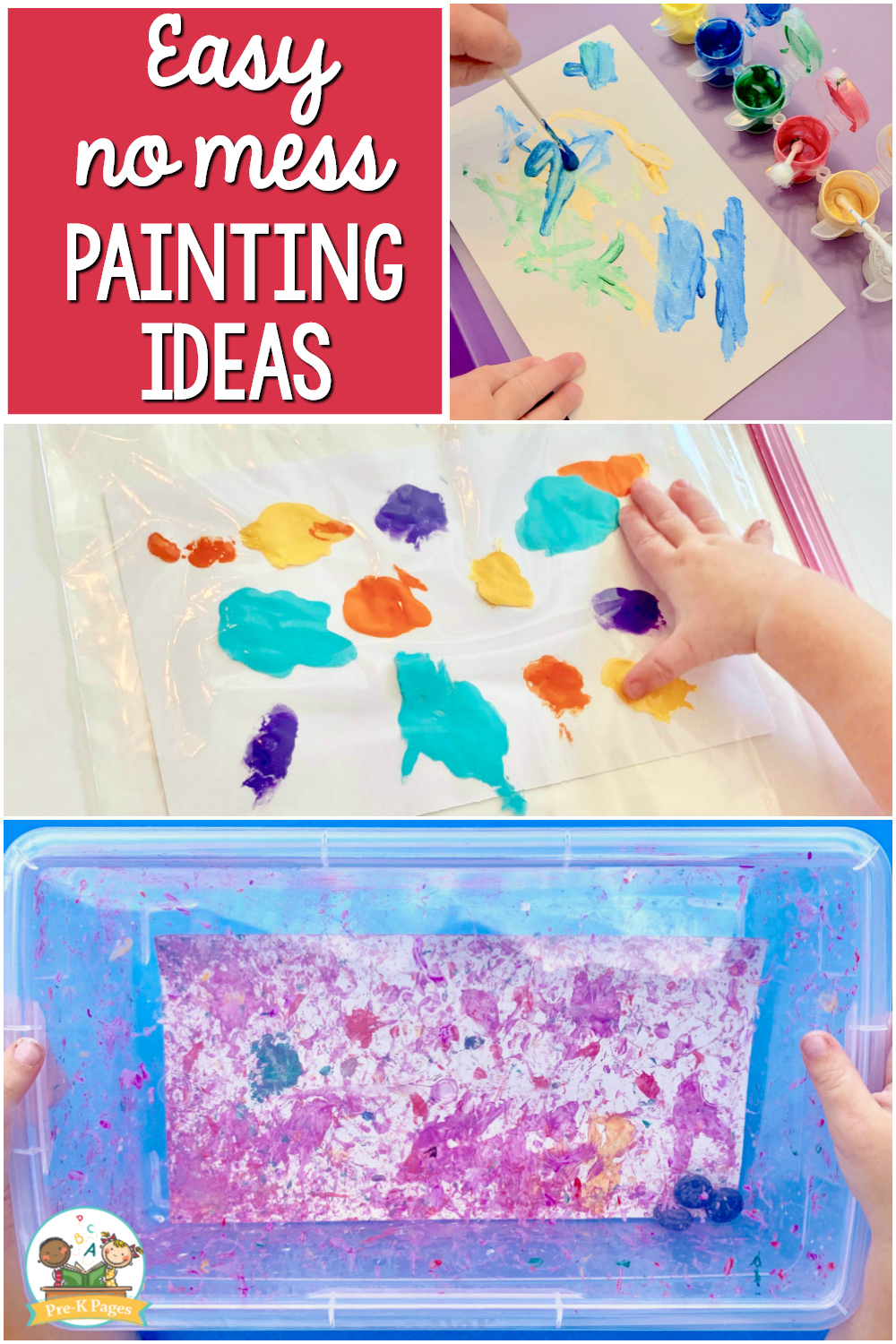 easy painting no mess for preschoolers