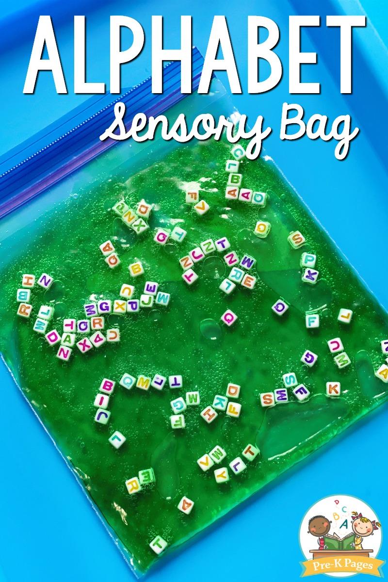 Alphabet Sensory Bag for Preschool
