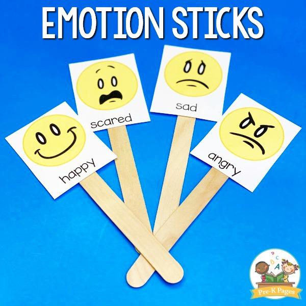 Emotion Sticks for Feelings Check In