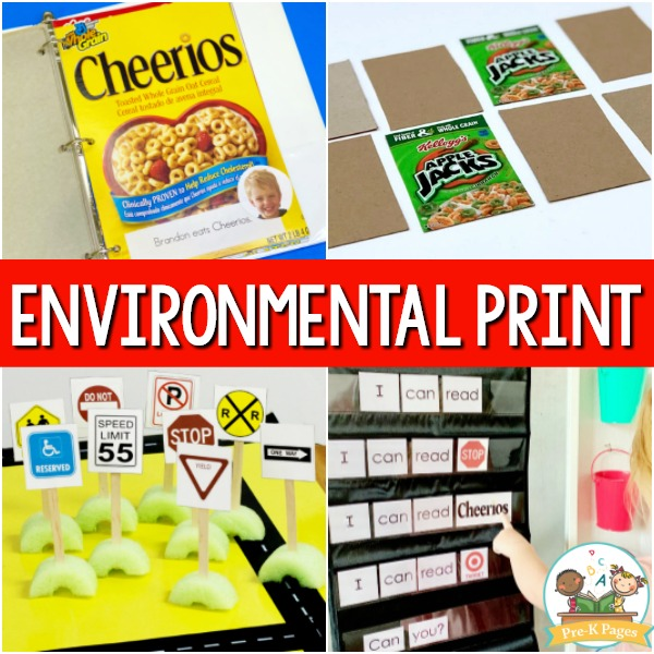 Environmental Print Activities for Preschool