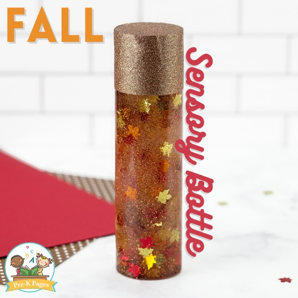 Fall Discovery Bottle for Preschool