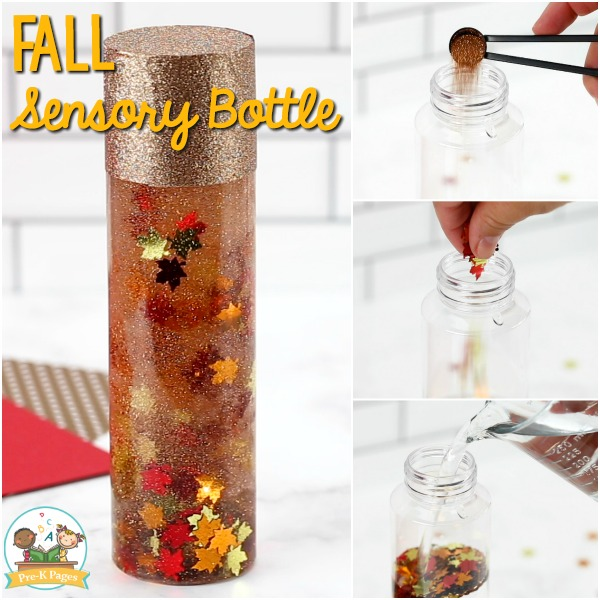 Fall Leaf Sensory Bottle