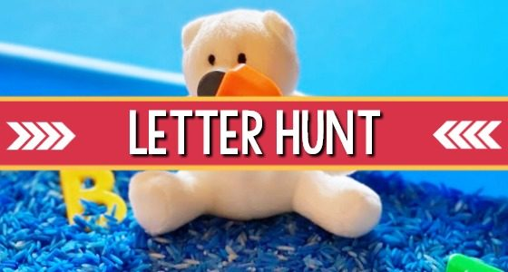 Letter Hunt Early Literacy Activity for Preschool