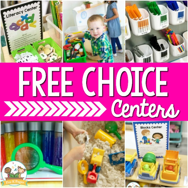 How to Set Up Free Choice Centers Preschool