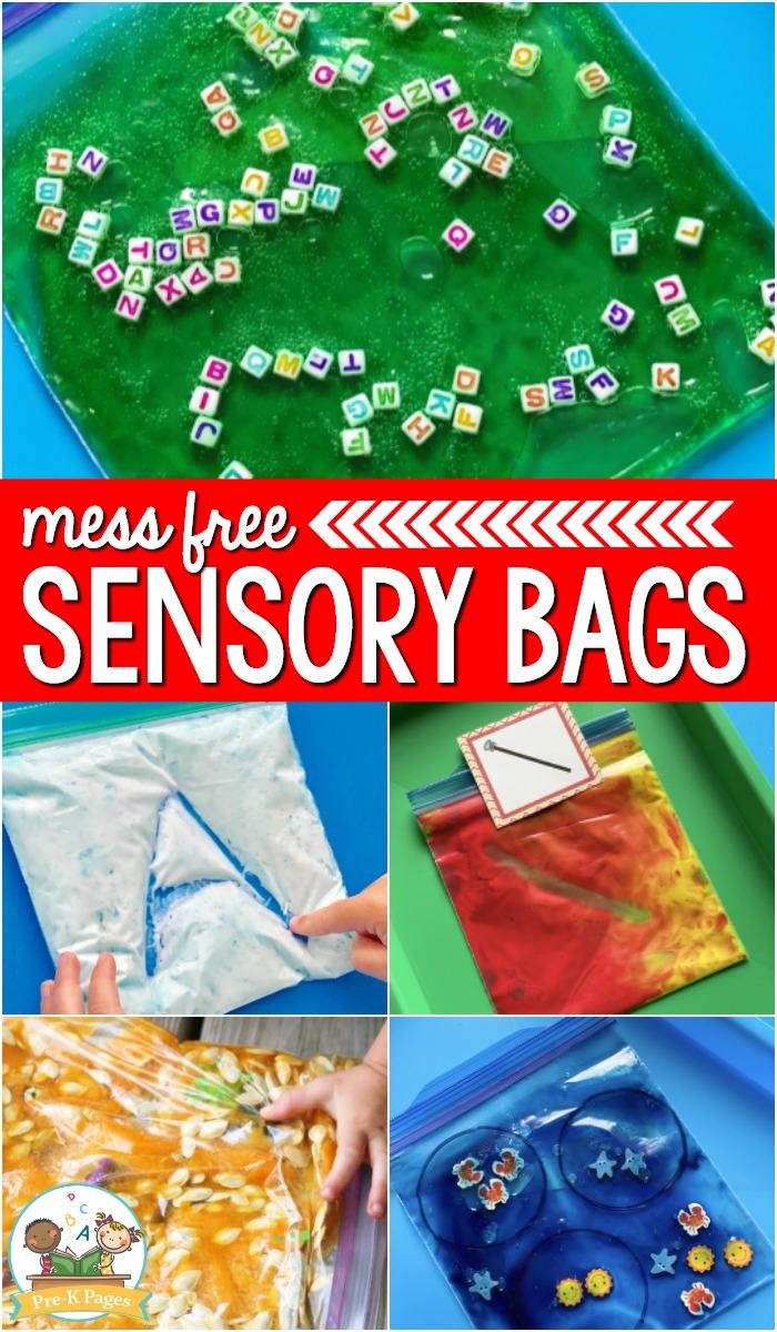 Mess Free Sensory Bags for Sensory Play
