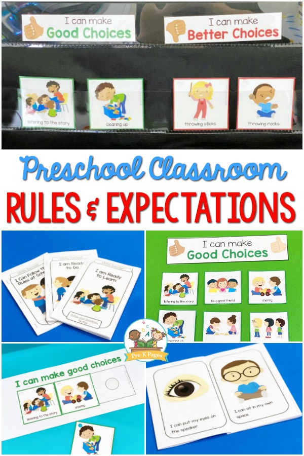 Preschool Classroom Rules and Expectations