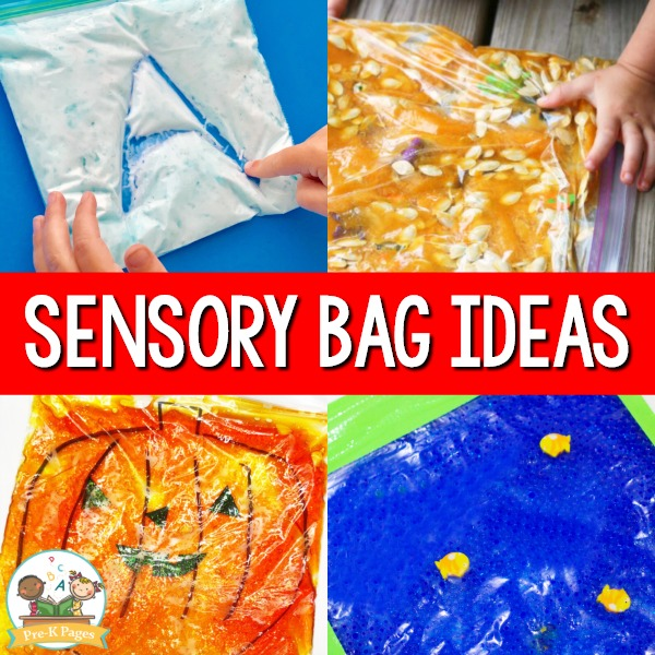 A collection of Sensory Bag Ideas