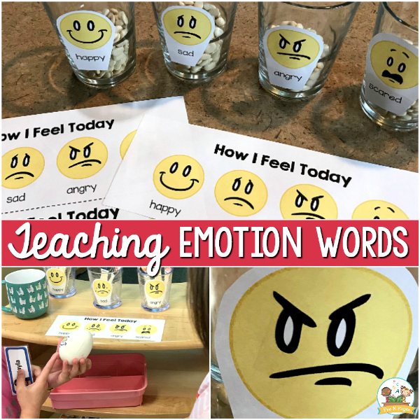 Teaching words for emotions and feelings pre-k