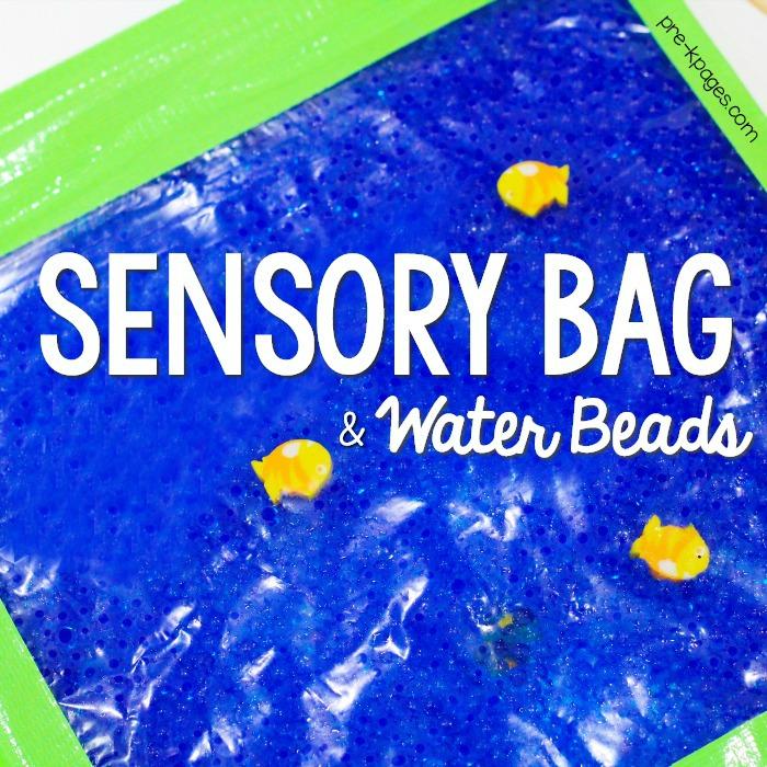 Water Beads in Sensory Bag