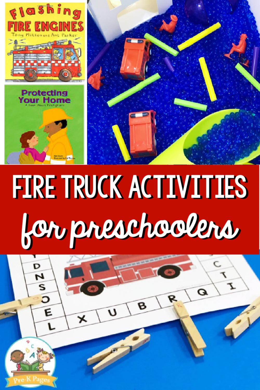 fire truck activities for preschool