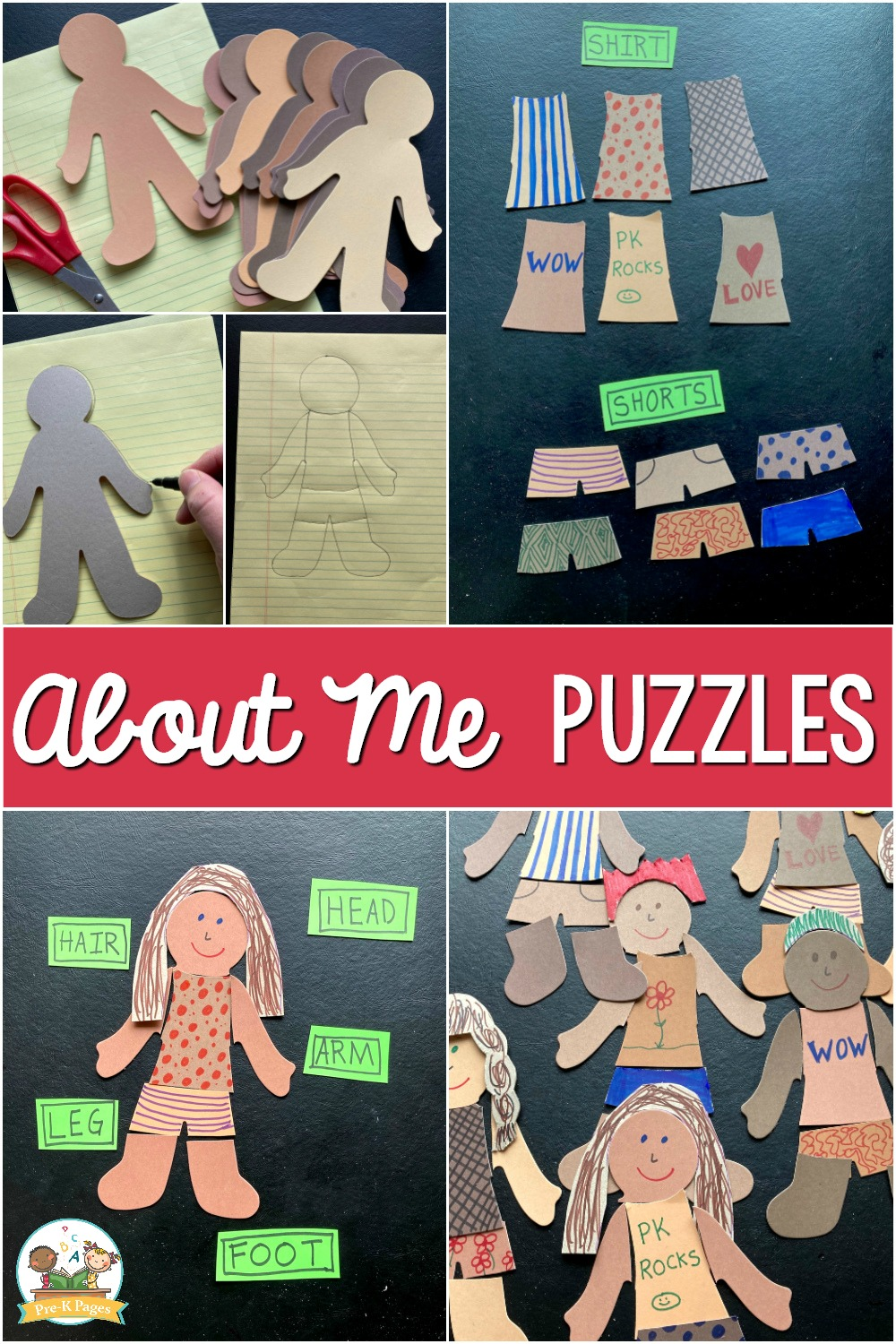 About me puzzles for pre-k