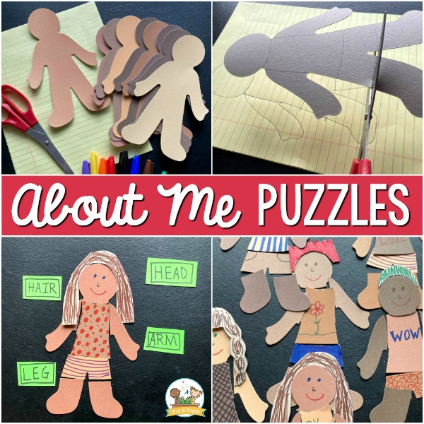 About me puzzles for preschool