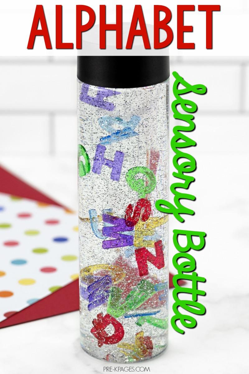 Alphabet Sensory Bottle for Preschool