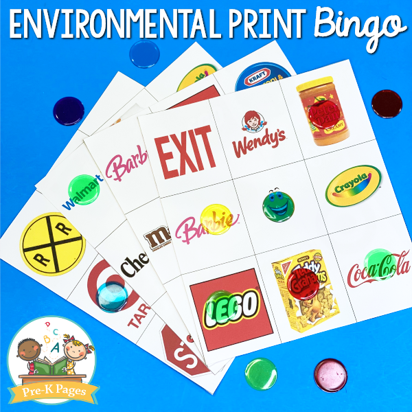 Environmental Print Bingo Game