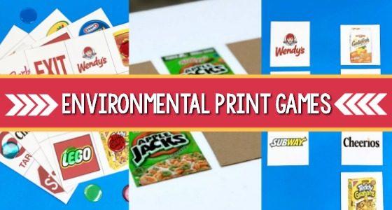 Environmental Print Games
