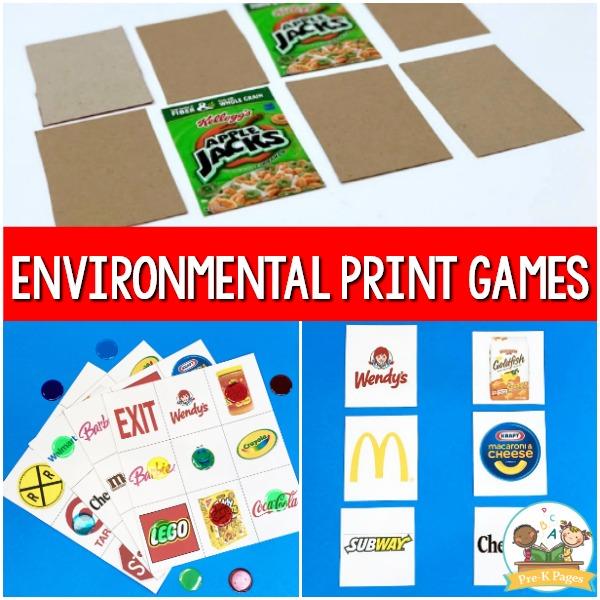 Environmental Print Games for Pre-K
