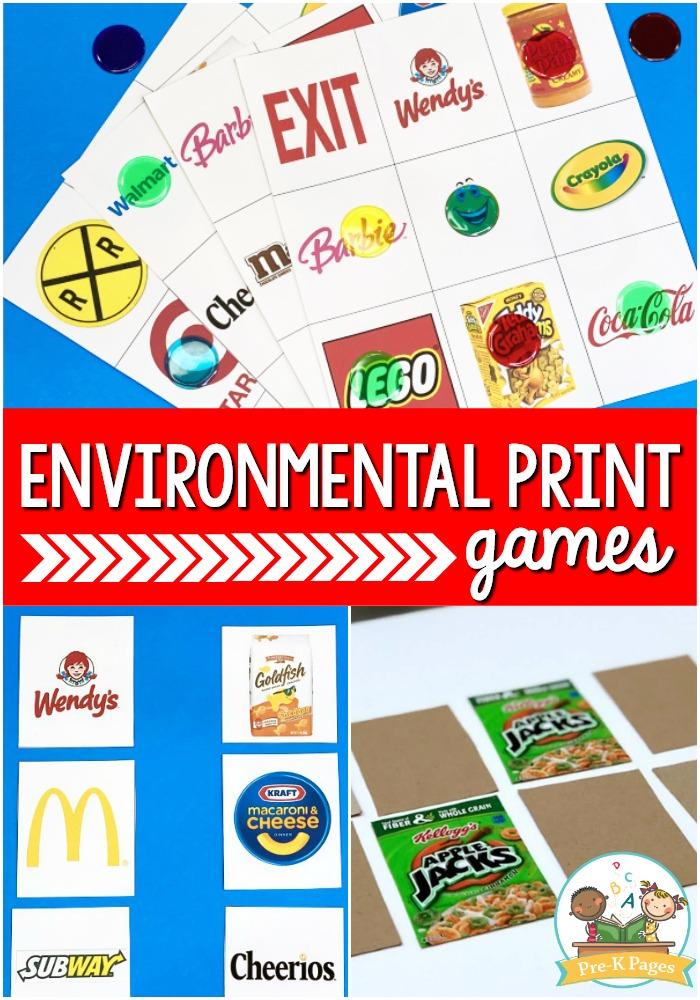 Environmental Print Games for Preschool