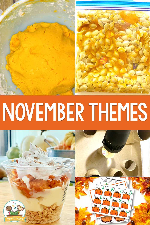 November Preschool Themes