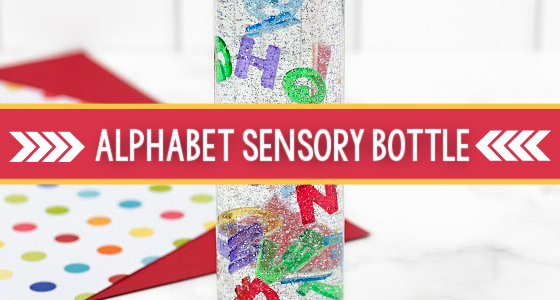 Alphabet Letter Sensory Bottle