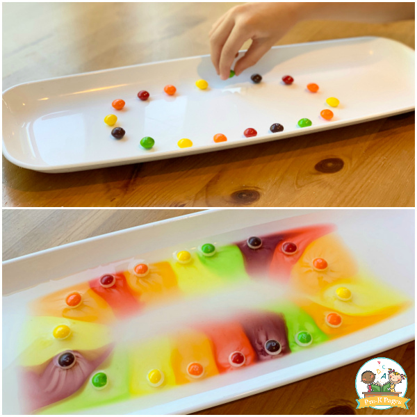 candy science experiment preschool
