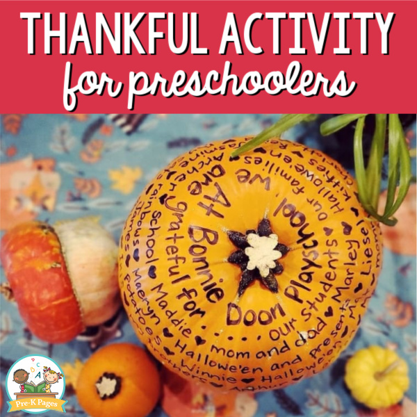 thanksgiving activity for preschool