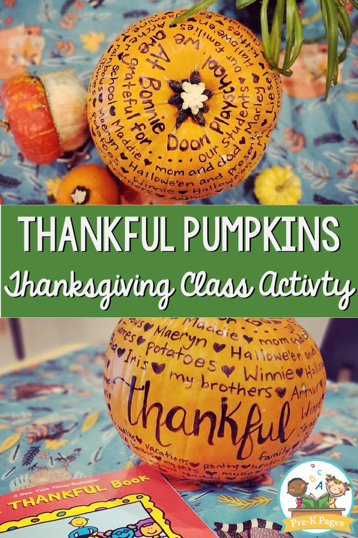 thanksgiving pre-k pumpkins