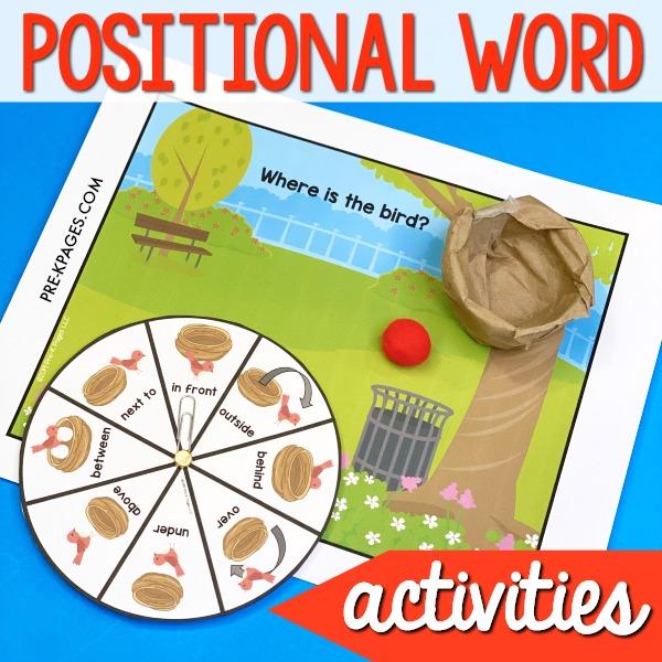 Bird Prepositional Words Activity
