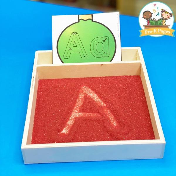 Christmas Alphabet Writing Cards