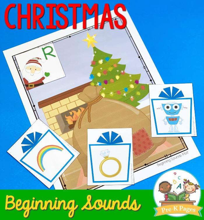 Christmas Beginning Sounds Activity